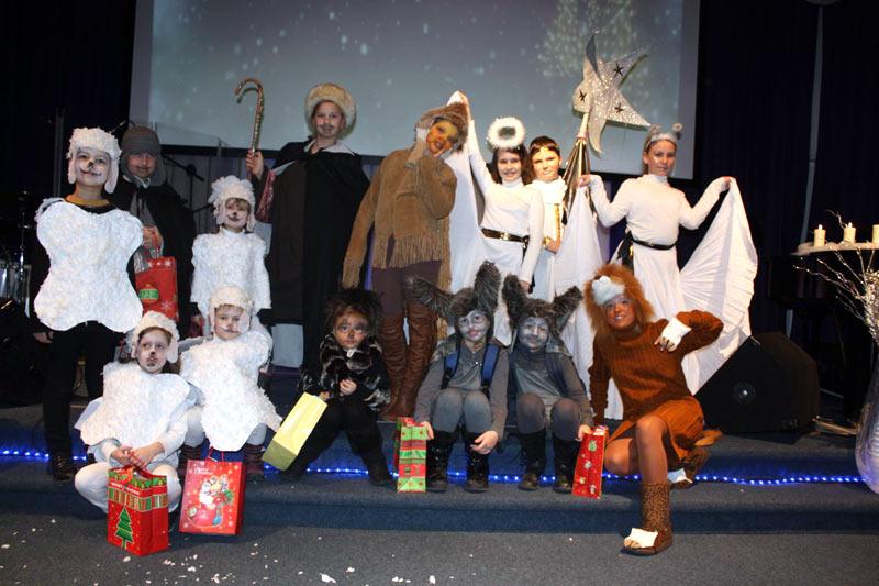 Kinder-Weihnachstfeier am 13.12. im Gospelzentrum AundO