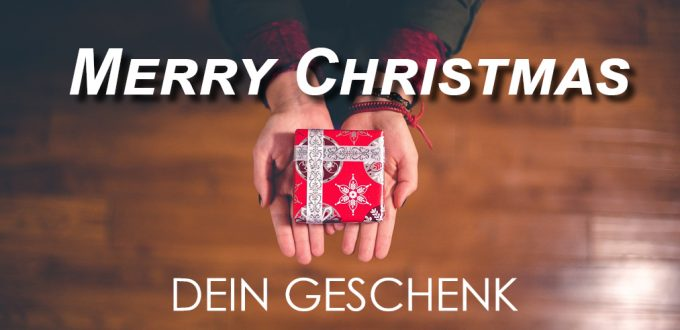 "Merry Christmas ""Dein Geschenk"""